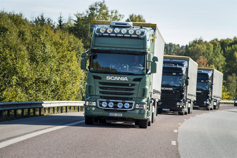 Scania trucks platooning