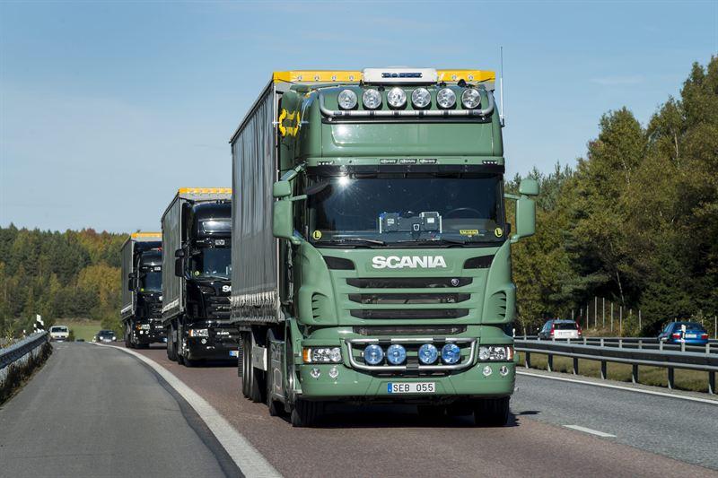 Scania trucks platooning