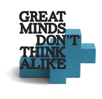 Berghs slututställning 2012: Great minds don't think alike