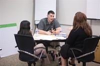 CVR participants practice their interviewing skills with onsite Veterans