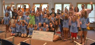 Our Children Making Change donate $2,600 to Go4theGoal Pediatric Cancer Foundation