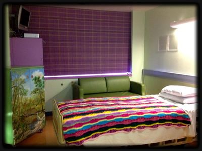 Renovations for this Comfort Care Suite for pediatric oncology patients at USCF Benioff Children&#39;s Hospital were funded by Go4theGoal Foundation.