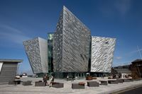 Townscape CT Blocks protecting the Belfast Titanic Centre