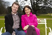 Davina McCall, pictured here with fellow Long Lost Family presenter Nicky Campbell, stayed at The Old Palace in Lincoln whilst filming the new series of the popular TV show