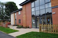 Pictured is the landscaped front entrance of Kapil Care Homes' newly completed Balmoral House in Scunthorpe