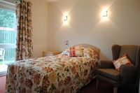 Pictured is one of the beautifully decorated private bedrooms with en-suite facilities at the new Balmoral House, owned by Kapil Care Homes