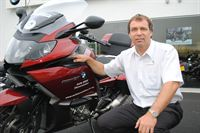 Pictured is Astle BMW Motorrad Service Advisor Terry Skelton who has been brought in to give customers confidence their prized possession is being given the right attention