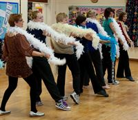 Pictured are budding dancers at a class in Wragby