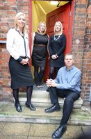 The Shooting Star PR team pictured outside their new offices