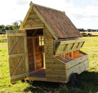 Henny Penny Hen Houses have lockable nesting boxes which means your chickens and eggs are safe and sound at all times.