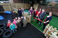 Pictured is Lincoln MP Karl McCartney cutting the ribbon at The Old Station Nursery&#39;s new setting on Monks Road in Lincoln