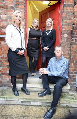 The Shooting Star PR team from left to right Kate Strawson, Cerri Delaney, Alexis Outram and Jez Ashberry