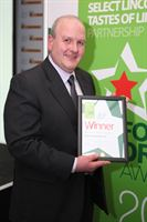 Pictured is the 2012 winner for Producer of The Year, Simons Quality Butchers