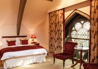 One of the bedrooms in the newly refurbished Old Palace Lodge which was used as a filming location for Escape to the Country.