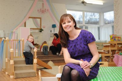 Pictured is Sarah Steel, Managing Director of The Old Station Nursery Group. She is against changes to childcare ratios.