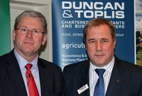 Peter Kendall, President of the NFU, with Adrian Reynolds, Managing Partner at Duncan &amp; Toplis