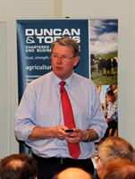 NFU President Peter Kendall speaking at the Duncan &amp; Toplis event