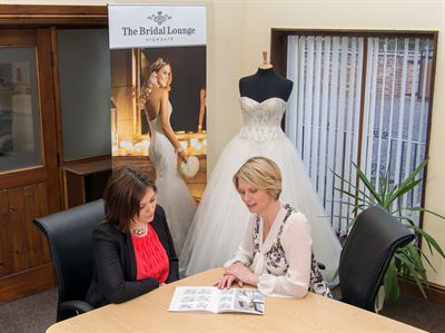 A new bridal boutique in rural Lincolnshire will be launched by friends Rachael Scott (right) and Gemma Clarke