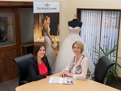 Friends Gemma Clarke (left) and Rachael Scott will open a new business called The Bridal Lounge Highgate this summer.