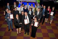 Pictured are the winners from the Lincolnshire Rutland Skills Awards celebrating their success.