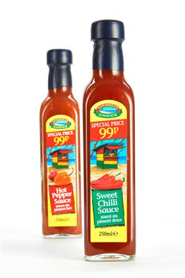 Caribbean Choice sauces