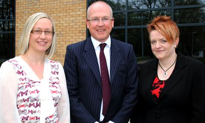 Carrie Bates, Jeremy Wetherall and Hannah Stockdale of Queensgate Management