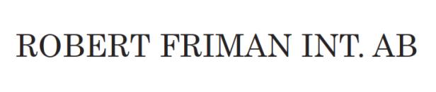 Robert Friman International AB (publ)