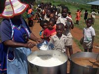 Karen Baldwin - Children's Meal at the School