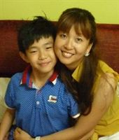 Tim Lim and his mother Ang Si Ying