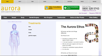 Aurora Clinics new website