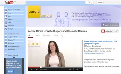 Aurora Clinics YouTube Channel