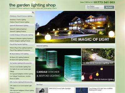 The Garden Lighting Shop Website