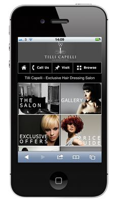 Tilli Capelli Mobile Website