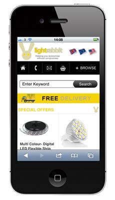 led there be light mobile site launch for lighting specialist