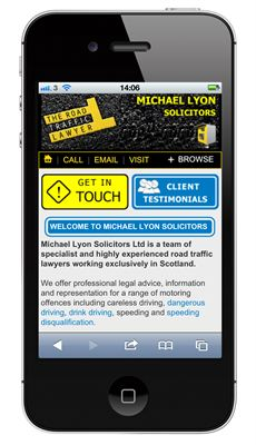 theroadtrafficlaywer mobile site