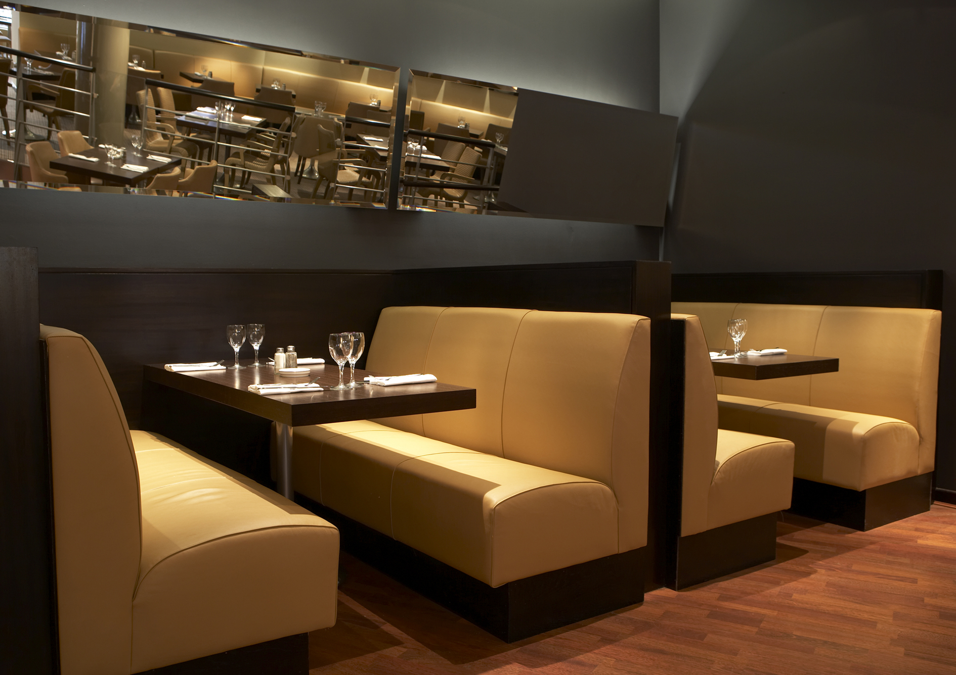 Lyndon banquette seating lyndon design for Restaurant furniture