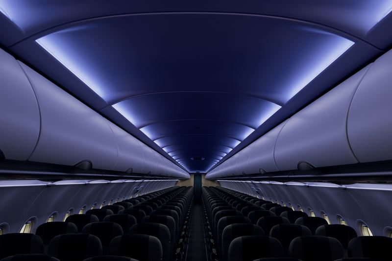 SAS A320neo ny kabin mood light 2