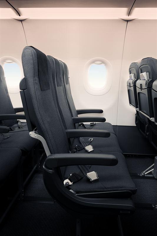 SAS A320neo ny kabin stol
