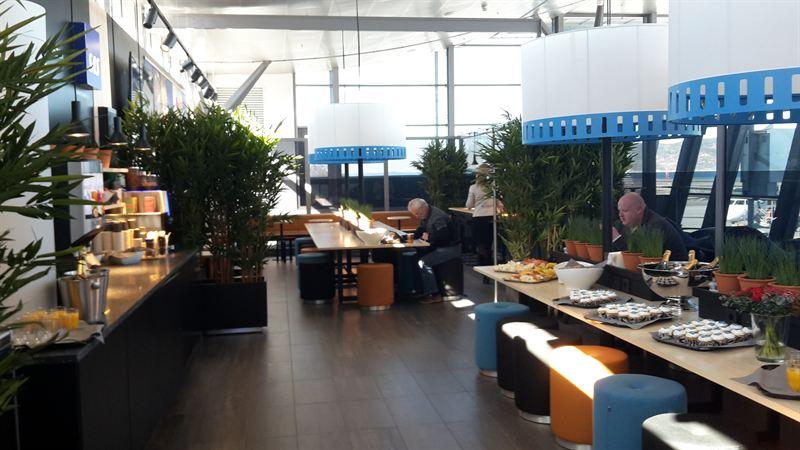 SAS Cafè Lounge in Trondheim inside