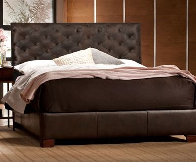 Raul Leather Platform Bed