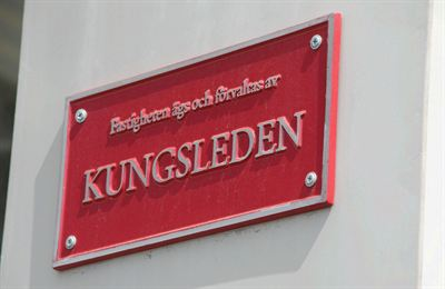 Kungsleden skylt