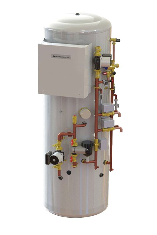 026 Pre-plumbed Ecodan cylinder - Mitsubishi Electric Living Environmental Systems