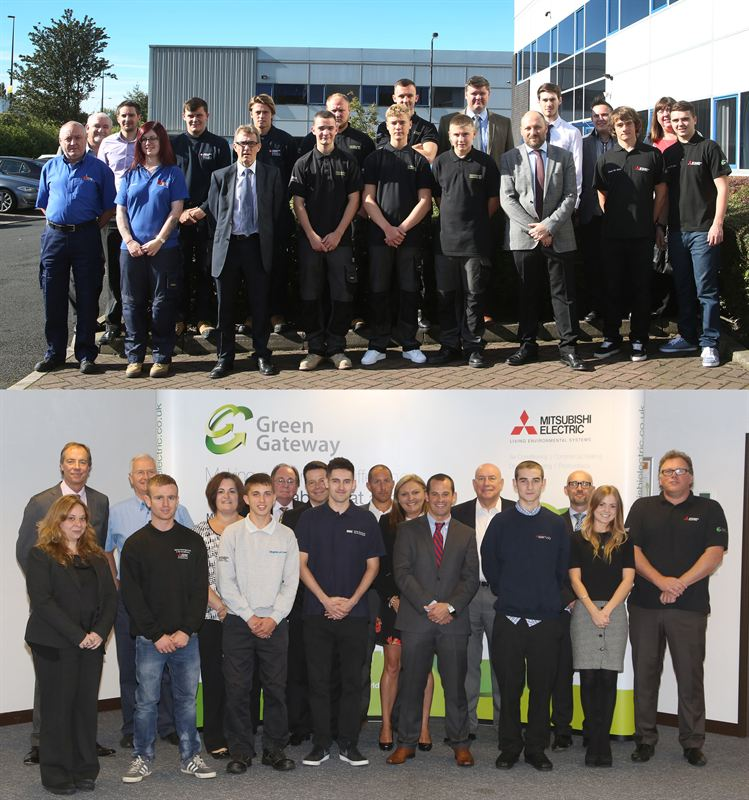 108 Apprentices Group Photos - Mitsubishi Electric Living Environmental Systems