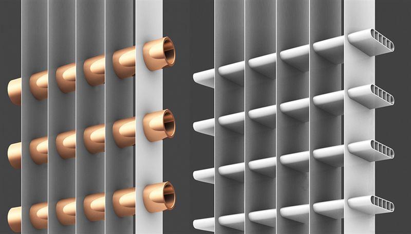 Алюминиевый микроканальный теплообменник кожухотрубный теплообменник чер