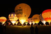 Balloon festival in Kirchberg at night