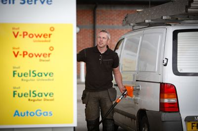 Van refuelling with LPG