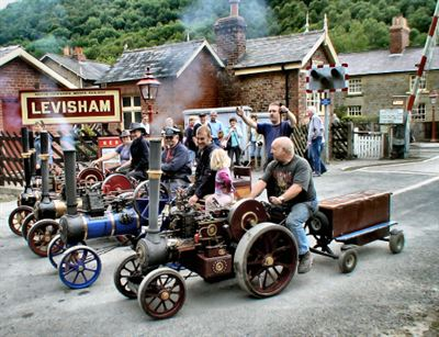 Classic Cars Join Classic Engines On The North Yorkshire Moors
