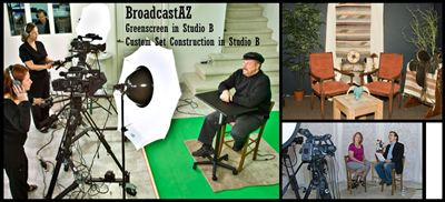 Greenscreen and custom sets in Studio B