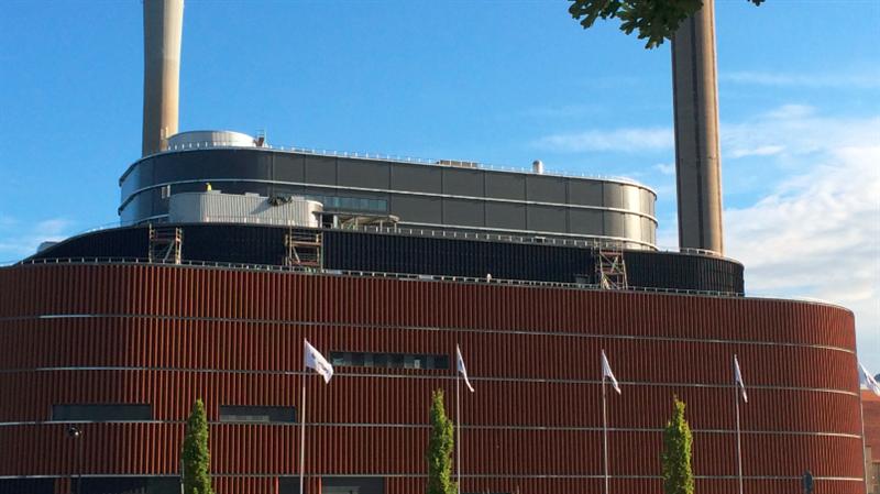Nya biokraftvärmeverket Värtan 160822