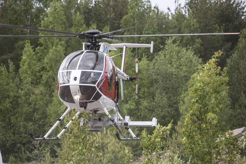 Fortum helikopterbesiktning